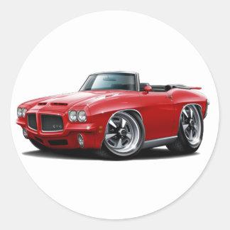 1971-72 GTO Red Convertible Round Sticker