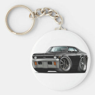 1971-72 Nova Black Car Key Ring