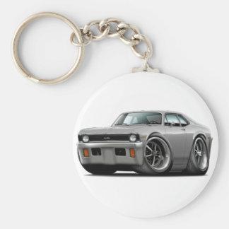 1971-72 Nova Silver Car Key Ring