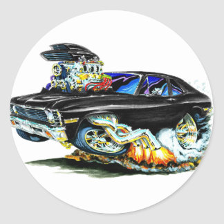 1971-74 Nova Black Car Round Sticker