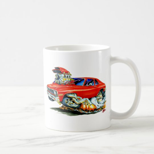 1971-74 Nova Red Car Coffee Mug