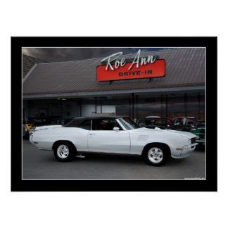 1971 Buick GS Convertible Muscle Car Poster