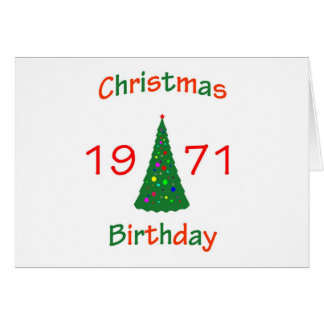 1971 Christmas Birthday Greeting Card