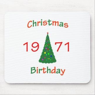 1971 Christmas Birthday Mouse Pad