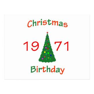 1971 Christmas Birthday Postcard