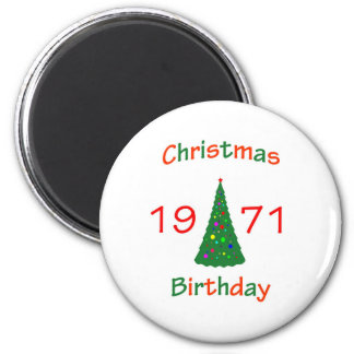 1971 Christmas Birthday Refrigerator Magnets