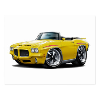 1971 GTO Judge Yellow Convertible Post Card