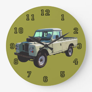 1971 Land Rover Pickup Truck Large Clock