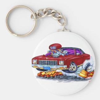 1971 Monte Carlo Maroon Car Basic Round Button Key Ring