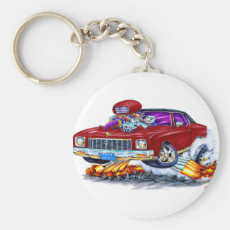 1971 Monte Carlo Maroon Car Key Ring