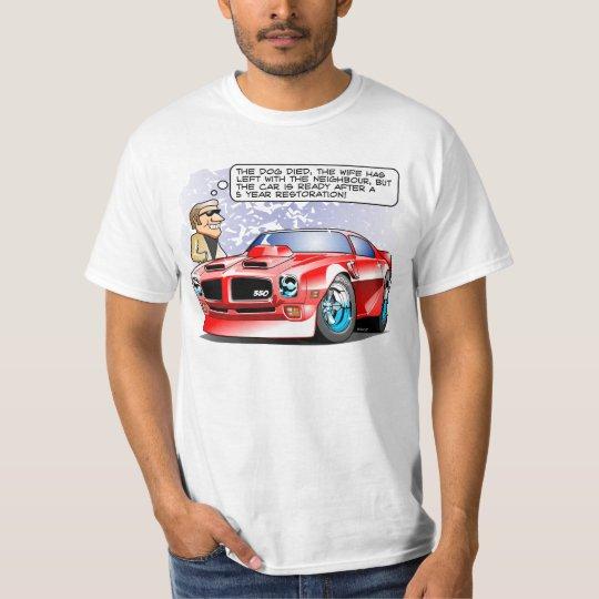 1971 Muscle Car Restoration Cartoon T-Shirt