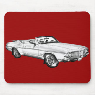 1971 Oldsmobile Cutlass Supreme Car Illustration Mousepad
