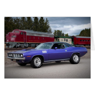 1971 Plymouth Barracuda Cuda Greeting Card