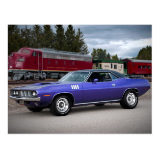 1971 Plymouth Barracuda Cuda Postcard
