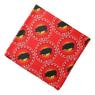1971 Year of the Pig Bandanna