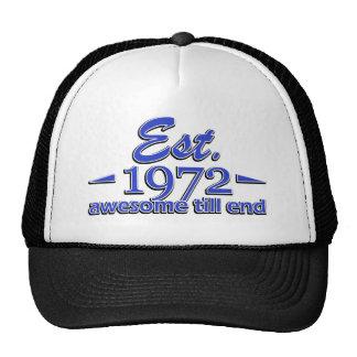 1972 birthday designs hats