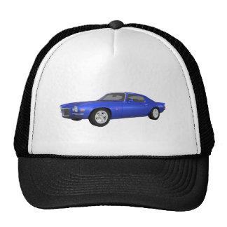 1972 Camaro Z28: Muscle Car: Blue Finish: Hats