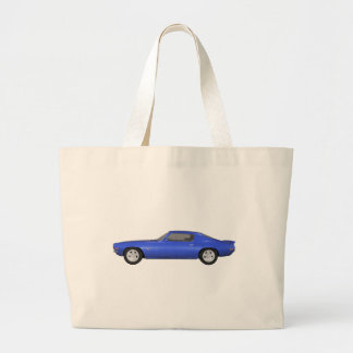 1972 Camaro Z28: Muscle Car: Blue Finish: Tote Bags