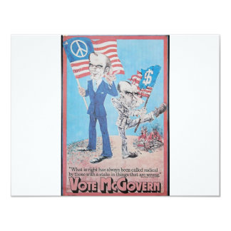 1972 Mcgovern 11 Cm X 14 Cm Invitation Card