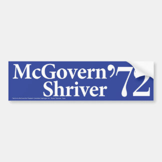 1972 McGovern Shriver Vintage Bumper Sticker