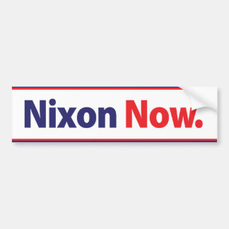 1972 Nixon Now Campaign Bumper Sticker