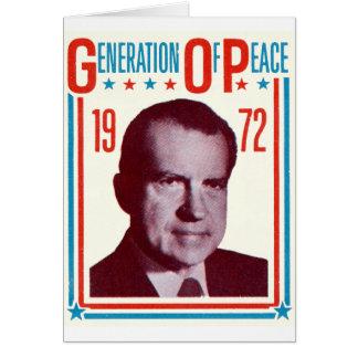 1972 Nixon Presidential Campaign Card