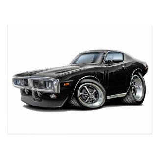 1973-74 Charger Black Car Postcards