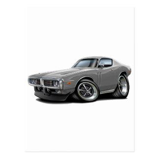 1973-74 Charger Grey Car Post Card