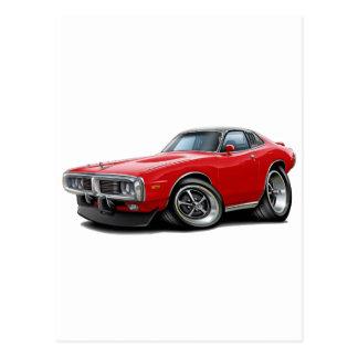 1973-74 Charger Red-Black SE Car Postcard
