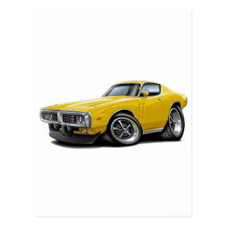 1973-74 Charger Yellow Car Postcards