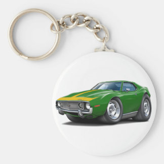1973-74 Javelin Green-Gold Car Key Ring