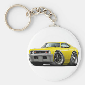 1973-74 Nova Yellow Car Key Ring