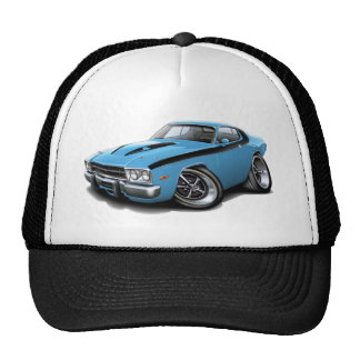 1973-74 Roadrunner Lt Blue-Black Car Trucker Hats