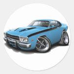 1973-74 Roadrunner Lt Blue-Black Car Stickers