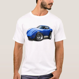 1973-76 Corvette Blue Car T-Shirt