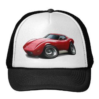 1973-76 Corvette Red Car Cap