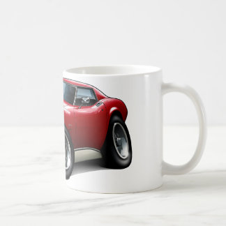 1973-76 Corvette Red Car Coffee Mug