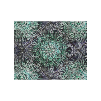 1973 Black and Green Gallery Wrap Canvas