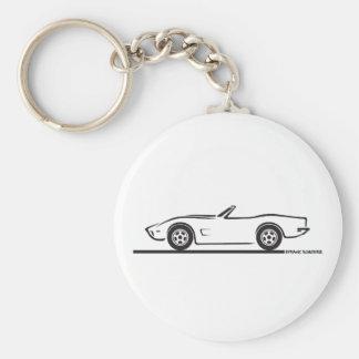 1973 Corvette Convertible Key Ring