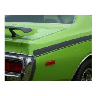 1973 Green Dodge Charger SE Brougham rear quarter Postcards