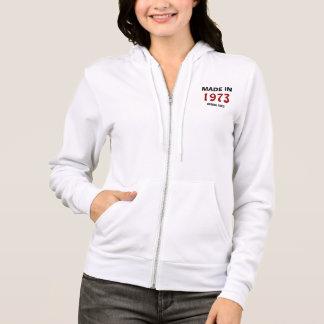 "1973: ""Made in 1973, Original Parts"" zip hoodie"
