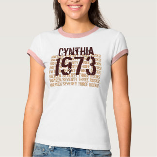 1973 Vintage Year 40th Birthday Tan Chocolate V6 T-Shirt
