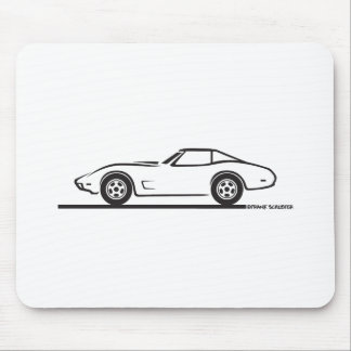 1974 1975 1976 1978 Chevrolet Corvette Hard Top T Mouse Mat