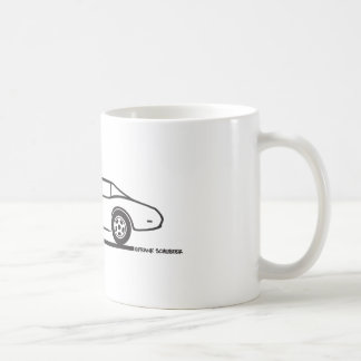1974 - 1977 Corvette Classic White Coffee Mug
