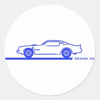 1974-78 Trans Am Blue Car Sticker