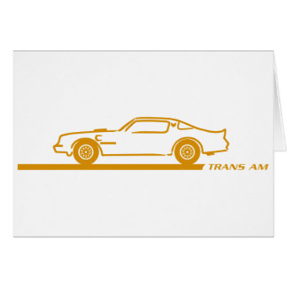 1974-78 Trans Am GoldCar Greeting Card