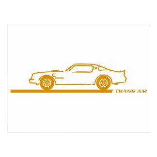 1974-78 Trans Am GoldCar Postcard