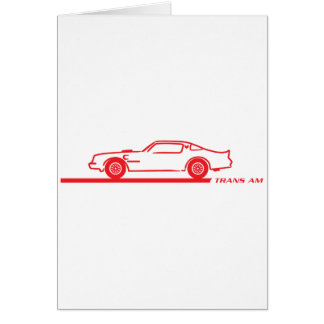 1974-78 Trans Am Red Car Greeting Card