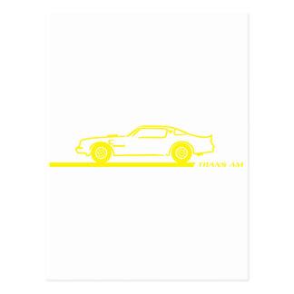 1974-78 Trans Am Yellow Car Postcard