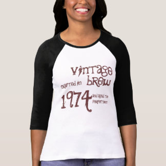 1974 Birthday Year 1974 Vintage Brew Template T-shirts
